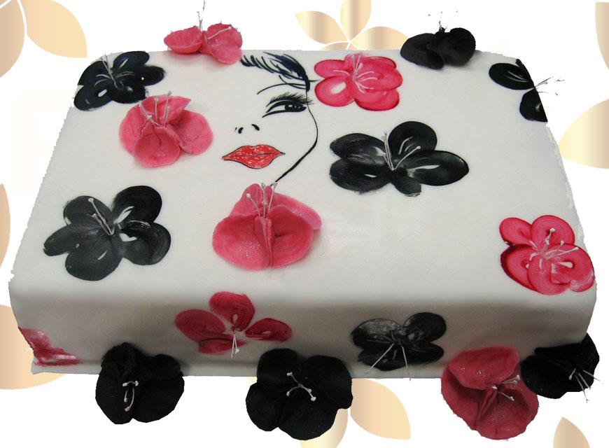 Торта за момиче с цветя