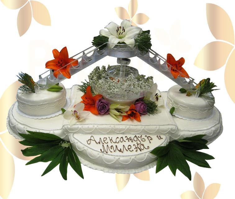 Сватбена торта 025
