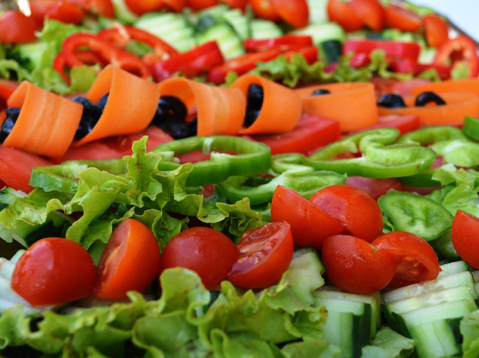 Плато от пресни зеленчуци