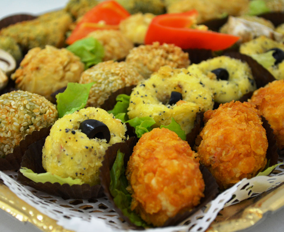 Xапки от панирани зеленчуци