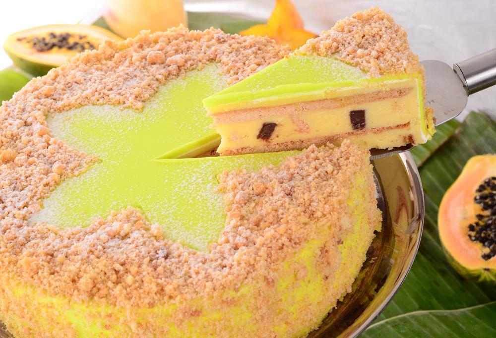 Бисквитена торта с лимонов крем