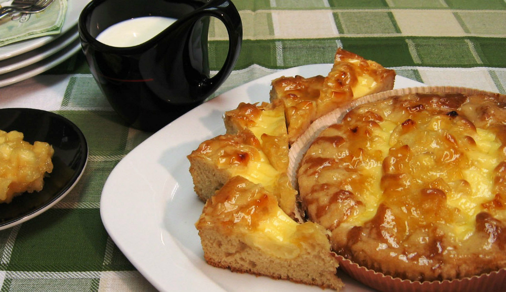 Кейк ябълка и баварски крем